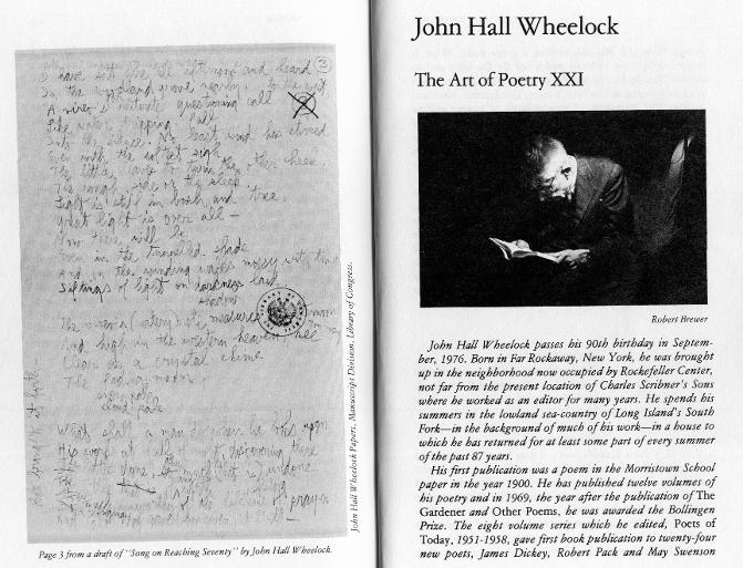 Robert Taylor Brewer photographed editor, poet John Hall Wheelock for The Paris Review